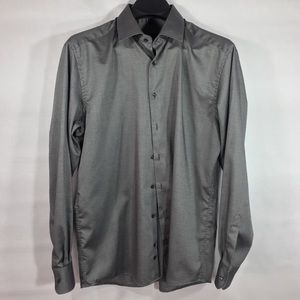 Eterna Gray Modern Fit Dress Button Down Size 42